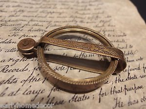 Antique Vintage Style, Brass Pocket Folding Optical Glass Magnifying Lens Loupe