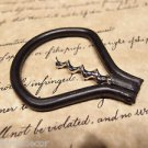 Antique Vintage Style Folding Iron Bow Corkscrew Wine Bottle opener