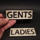 Vintage Antique Style Cast Iron Bathroom Mens Womens Ladies Gents Sign