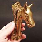 Antique Vintage Style SOLID BRASS Horse Head DOOR KNOCKER Hardware