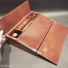 Antique Vintage Style Folding Mahogany Writing Slope Lap Desk Campaign Box KIT