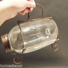 Small Antique Vintage Style Clear Glass Minnow Bottle Trap Signed