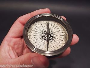 Vintage Antique Style Solid Brass Compass