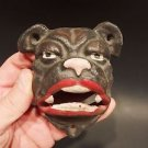 Antique Vintage Style Cast Iron wall mount folk art Bulldog Beer Bottle Opener
