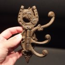 Antique Vintage Style Cast Iron Wall Hook Swivel Folding Coat Hanger Horse
