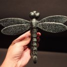 Antique Vintage Style Cast Iron Verdigris Green Dragonfly Door Knocker