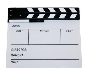 White Director's Clapboard / Clapper / Slate - 2386