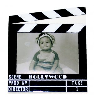 """Hollywood Acrylic Clapboard Picture Frame - 3.5x5"""" - 5424"""