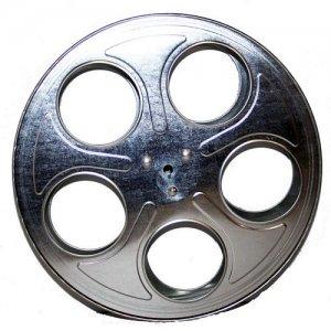 Metal Movie Reels Silver ( For 35 mm Film) - 2563