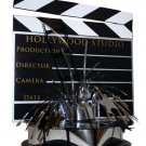 Hollywood 3-D Clapboard & Reel Centerpiece -6041