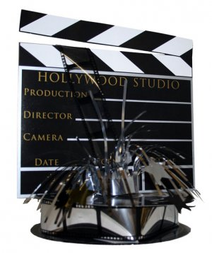 Hollywood 3-D Clapboard & Reel Centerpiece -6041