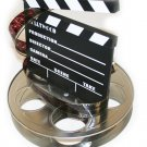 Hollywood Studio Clapboard & Reel Centerpiecec - 6057
