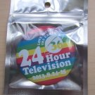 ARASHI 24 HOUR HR TV TELEVISION 2013 OFFICIAL GOOD CAN BADGE RAINBOW NEW