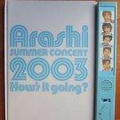 ARASHI 2003 HOW'S IT GOING? TOUR CONCERT GOOD PAMPHLET MEMBERS VOICE JOHNNY