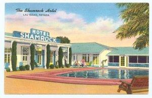 Nevada Postcard The Shamrock Hotel Las Vegas, NV ED401