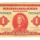 1943 Netherlands 1 Gulden Note - ED303