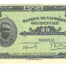 French West Africa 25 Francs Note - Banque De L'Afrique Occidentale- 1942 - ED309