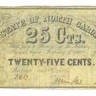 1866 State of North Carolina 25 Cent Note - ED310