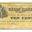 1862 10 cent Merchant's Scrip - Civil War Era - A. M. Utley - Watertown, New York - ED313