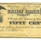 1862 50 cent Merchant's Scrip - Civil War Era - A. M. Utley - Watertown, New York - ED316