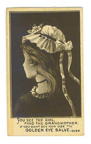 Unusual Golden Eye Salve Trade Card - Image Changes - EG101