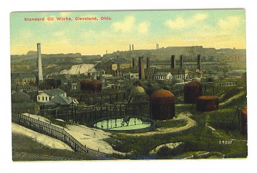 Postcard - Standard Oil Works Factory - Cleveland Ohio