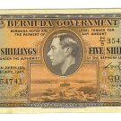 1947 Bermuda Government 5 Shillings Note - ED317