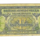 1946 British Armed Forces Special Voucher - 1 Shilling Paper Note