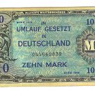 WW II Allied Military Currency - GERMANY - 10 Marks