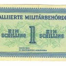 WW II Allied Military Currency - AUSTRIA - 1 Schilling