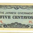 Philippines 5 Centavo Note - Japanese Invasion Money ( JIM ) Note - WW II