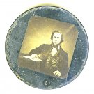 Louis (Lajos) Kossuth - Early Hungarian Leader Image?and Metal Case