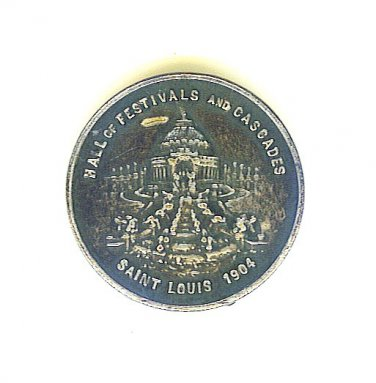 1904 St Louis Worlds Fair Pin - Hall of Festivals and Cascades