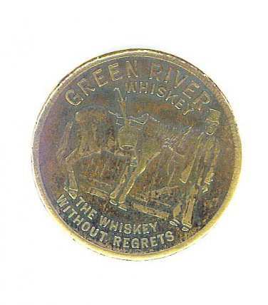 Green River Whiskey Advertising Token