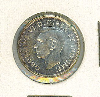Nice 1947 Canada - Canadian Silver 10 Cents - Maple Leaf