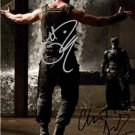 TOM HARDY CHRISTIAN BALE SIGNED PHOTO 8X10 RP AUTOGRAPHED DARK KNIGHT RISES