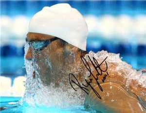 RYAN LOCHTE SIGNED PHOTO 8X10 RP AUTO AUTOGRAPHED 2012 U.S. OLYMPIC TEAM