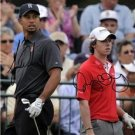 TIGER WOODS RORY MCILROY SIGNED PHOTO 8X10 RP AUTO AUTOGRAPHED GOLF