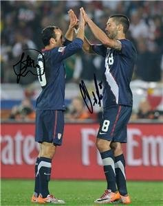 LANDON DONOVAN CLINT DEMPSEY SIGNED PHOTO 8X10 RP USA