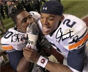 CAM NEWTON NICK FAIRLEY DUAL SIGNED PHOTO 8X10 RP AUTO AUBURN TIGERS