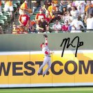 "MIKE TROUT SIGNED PHOTO 8X10 RP AUTO AUTOGRAPHED "" THE CATCH "" * LA ANGELS *"