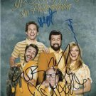 ** IT'S ALWAYS SUNNY IN PHILADELPHIA SIGNED PHOTO 8X10 RP AUTOGRAPHED **