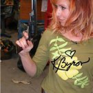 KARI BYRON SIGNED PHOTO 8X10 RP AUTOGRAPHED * MYTHBUSTERS