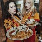 2 BROKE GIRLS CAST SIGNED PHOTO 8X10 RP AUTOGRAPHED * KAT DENNINGS & BETH BEHRS