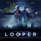 LOOPER CAST SIGNED PHOTO 8X10 RP AUTOGRAPHED JOSEPH GORDON LEVITT BRUCE WILLIS