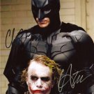 CHRISTIAN BALE & HEATH LEDGER SIGNED PHOTO 8X10 RP JOKER BATMAN THE DARK KNIGHT