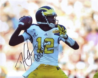 DEVIN GARDNER SIGNED PHOTO 8X10 RP AUTOGRAPHED MICHIGAN WOLVERINES