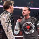 CM PUNK CHRIS JERICHO SIGNED PHOTO 8X10 RP AUTO AUTOGRAPHED WWE WRESTLING