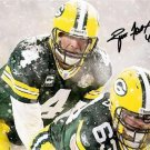 * BRETT FAVRE SIGNED PHOTO 8X10 RP AUTOGRAPHED * GREEN BAY PACKERS SNOW STORM !