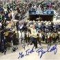 2012 NOTRE DAME TEAM SIGNED PHOTO 8X10 RP MANTI TE'O EVERETT GOLSON BRIAN KELLY